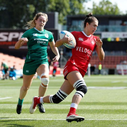 Team Canada take silver at the 2020 New Zealand Women's Rugby Sevens Championship